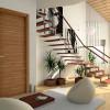 porta in legno noce canaletto naturle con finitura graffio battente modello lt dorica castelli