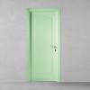 porta in legno pantografata laccata verde a battente dorica castelli