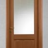 porta in legno noce tanganika tinto con cristallo madras bianco inciso tipo inglese battente modello m3 dorica castelli