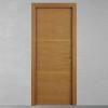 porta in legno rovere tinto miele con listelli per divisione anta battente modello lt dorica castelli