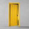 porta in legno pantografata laccata giallo oro a battente dorica castelli