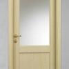 porta in legno rovere laccato decapè avorio battente modello m3 dorica castelli