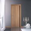 porta in laminato noce canaletto chiaro con inserti verticali in alluminio medusa a battente panet doors gd d'origo
