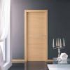 porta in laminato rovere sbiancato orizzontale con inserti in alluminio a battente medusa planet doors gd d'origo