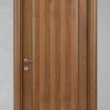 porta in legno noce nazionale bicolore con profilo rotondo battente modello m3 dorica castelli