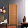 porta in laminato noce chiaro con inserti orizzontali in alluminio a battente medusa planet doors gd d'origo