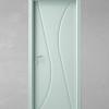 porta in legno pantografata laccata bianco azzurro a battente dorica castelli