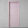 porta in legno pantografata laccata grigio rosato a battente dorica castelli