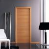 porta in laminato noce chiaro con inserti in alluminio a battente medusa planet doors gd d'origo