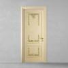 porta in legno pantografata laccata e stuccata decorata a mano in oro a battente dorica castelli