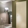 porta in legno laccata lux con madreperla crema lucido spazzolato a battente dorica castelli