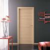 porta in laminato rovere sbiancato orizzonatle con inserti in alluminio a battente medusa planet doors gd d'origo