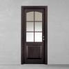 porta in legno rovere tinto wengè con cristalli madras molati bianco battente modello m3 dorica castelli