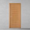 porta in legno tanganika naturale con filetti verticali essenza a contrasto battente modello lt dorica castelli