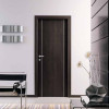 porta in laminato wengè con inserti in alluminio a battente medusa planet doors gd d'origo