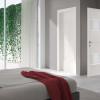 porta interna in laminato in larice bianco con vetro lino garza a battente ixia ican