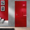 porta in legno laccata lux rosso rubino lucido spazzolato a battente dorica castelli