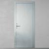 porta in legno laccata lux con madreperla grigio lucido spazzolato a battente dorica castelli