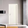 porta in laminato bianco con inserti in alluminio verticali a battente medusa planet doors gd d'origo