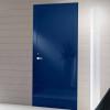 porta in legno laccata lux blu zaffiro lucido spazzolato a battente dorica castelli