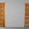 porta in legno noce nazionale biondo bicolore tinto miele battente modello lt dorica castelli