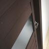 porta interna in laminato in wengè con vetro satinato dettaglio nemesia ican
