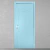 porta in legno laccata incisa grigio azzurro cielo con telaio inverso a battente dorica castelli