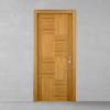 porta in legno teak naturale con contrasto battente modello lt dorica castelli