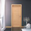 porta in laminato rovere sbiancato con inserti in alluminio orizzontali zeus a battente planet doors gd d'origo