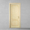 porta in legno pantografata laccata e stuccata decorata a mano a battente dorica castelli