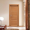 porta in laminato noce chiaro con inserti in alluminio a battente zeus planet doors gd d'roigo
