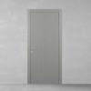 porta in legno laccata incisa a poro aperto grigio seta a battente dorica castelli