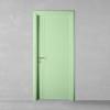 porta in legno laccata incisa verde bianco a battente dorica castelli