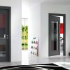porta interna in laminato in rovere grigio con vetro satinato a battente starlet ican