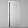 porta in legno laccata incisa testurizzato grigio luce a battente dorica castelli