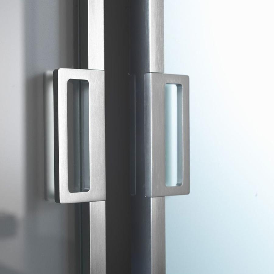 porta in vetro acidato mitika scorrevole con binario a parete in