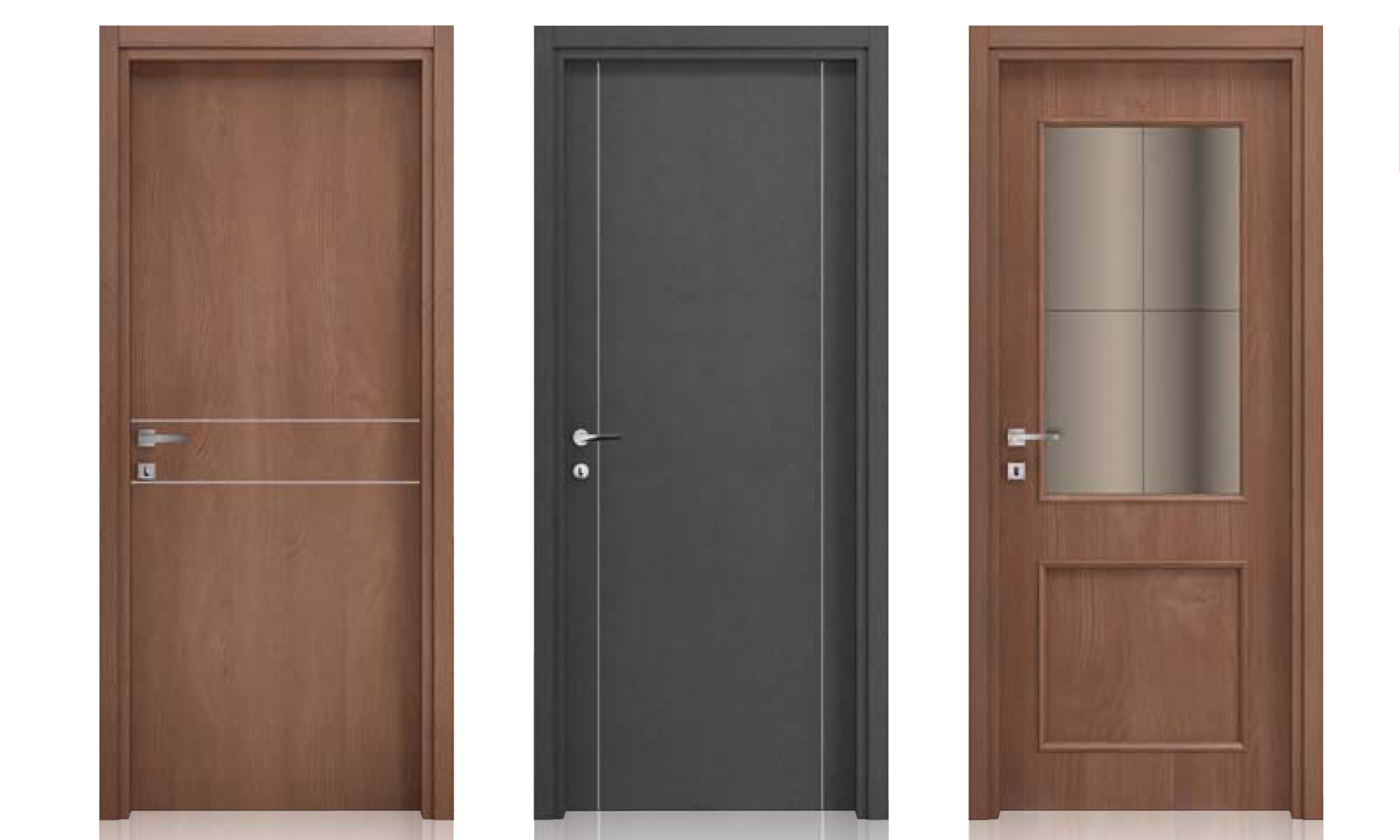 Porte in laminato casa infissi debernardis altamura bari - Porte interne rovere grigio ...