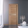 porta in laminato noce canaletto con fascia in alluminio a battente venere planet doors gd d'origo