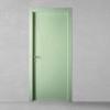 porta in legno laccata incisa ral verde a battente dorica castelli