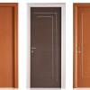 porta interna in laminato in ciliegio e wengè orizzontale con stipite in alluminio a battente starlet ican