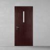porta in legno laccata frassino marrone chiaro a poro aperto con luce passante e cristallo madras con telaio inverso a battente dorica castelli