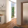 porta interna in laminato in noce moka con vetro satinato bronzo a battente diva ican