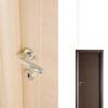porta interna in laminato in wengè orizzontale rovere chiaro a battente dettaglio diva ican