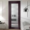 porta in legno noce tanganika tinto wengè con cristallo battente modello m3 dorica castelli
