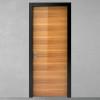 porta in legno olmo naturale lucido spazzolato con telaio nero laccato opaco battente modello lt dorica castelli