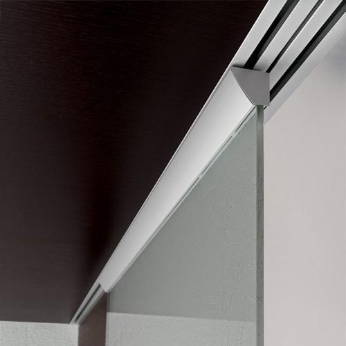 Porta in vetro ghiaccio pannello in weng scorrevole light esterno muro con binario a soffitto a - Tende per porte esterne ...