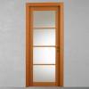 porta in legno noce tanganika tinto ciliegio con cristalli battente modello m3 dorica castelli
