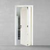 porta in legno pantografata laccata bianco versione a libro dorica castelli