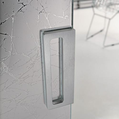 porta in vetro ghiaccio con pannelli wengè scorrevole light ...