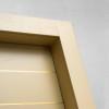 porta in legno frassino laccato a poro aperto caramello battente dettaglio modello lt dorica castelli